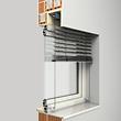 Fassadenraffstoren seilgeführt